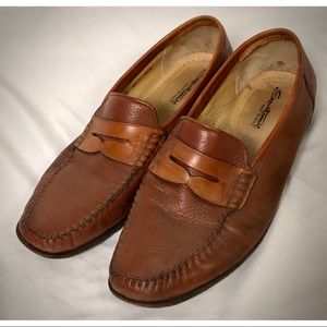Tan Italian Penny Loafers - Size 10 1/2